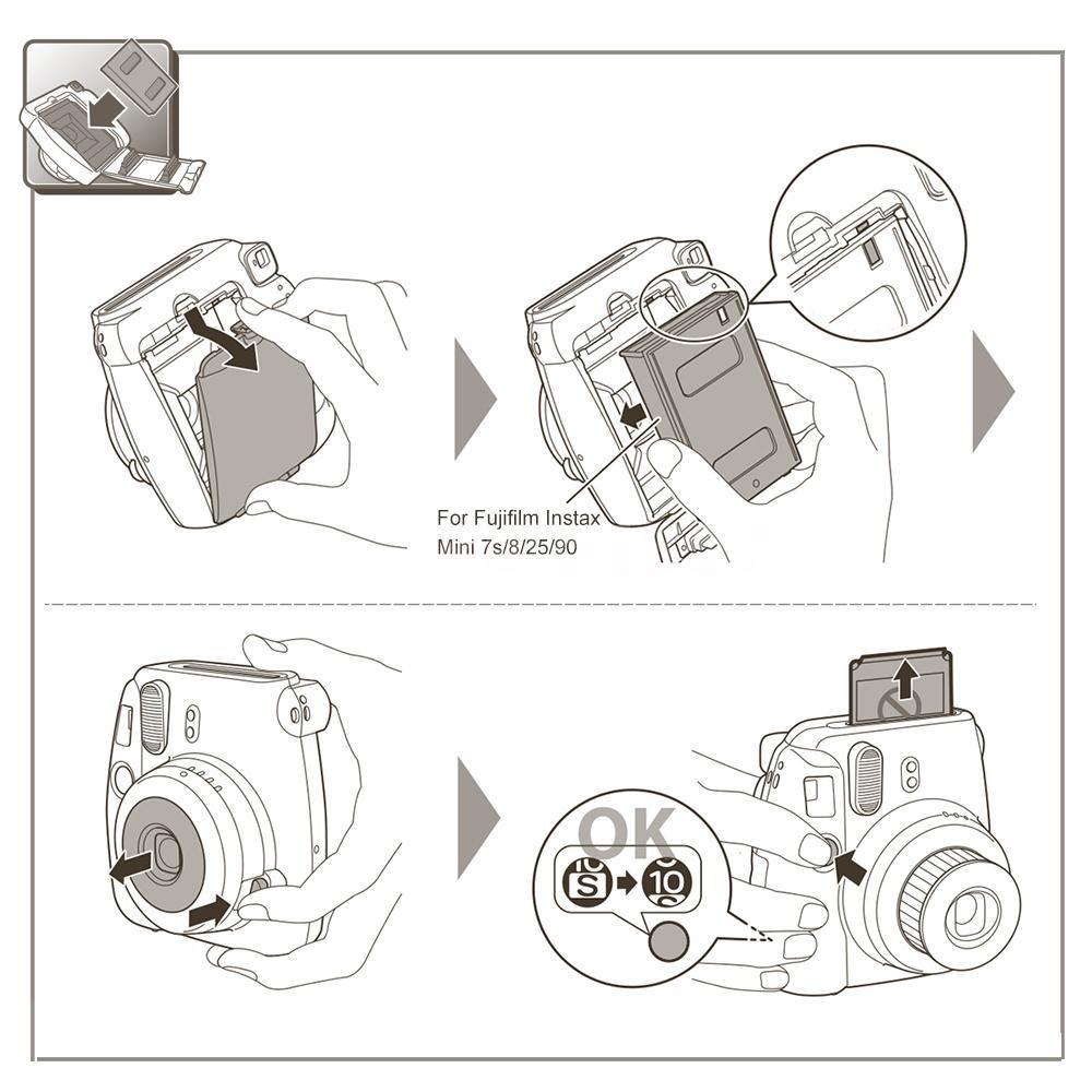 100 Sheets Fujifilm Instax Mini Film Fuji instant 7s 8 25